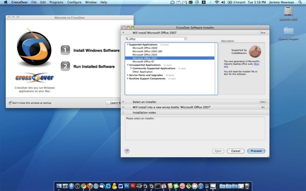 Запуск Windows-програм за допомогою CrossOver