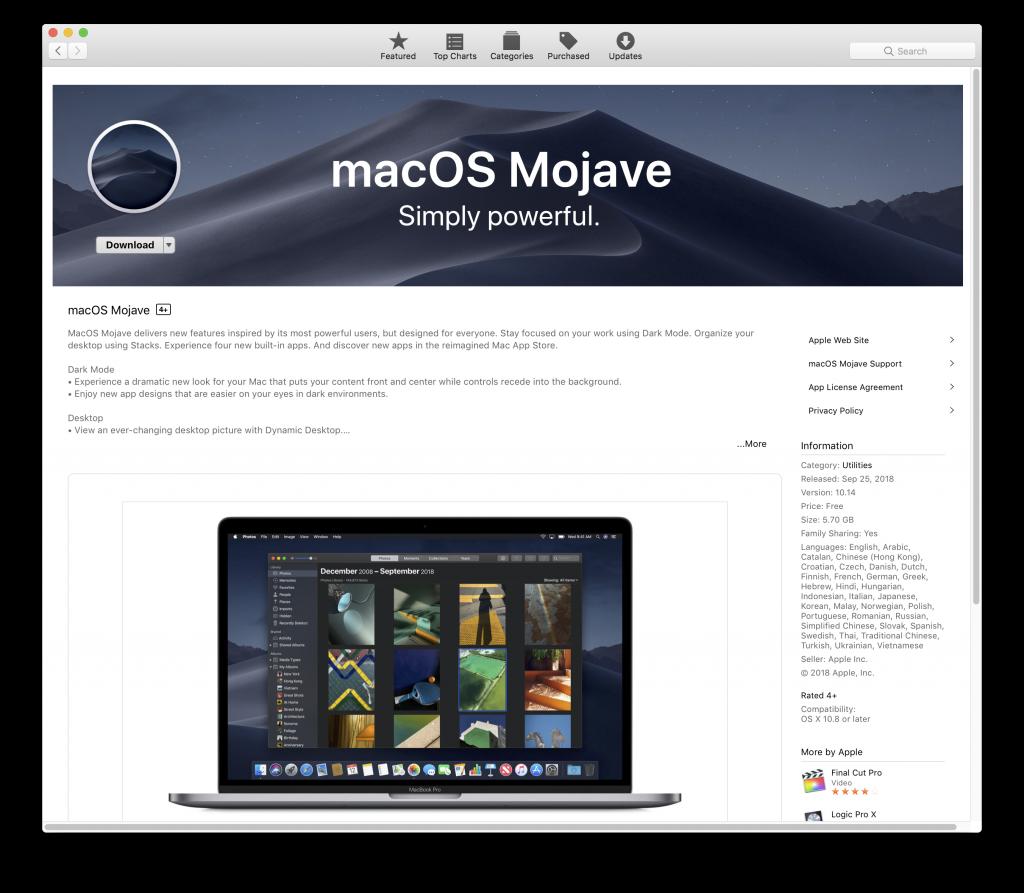 Оновлення macOS. Чисте встановлення будь-якої версії операційної системи