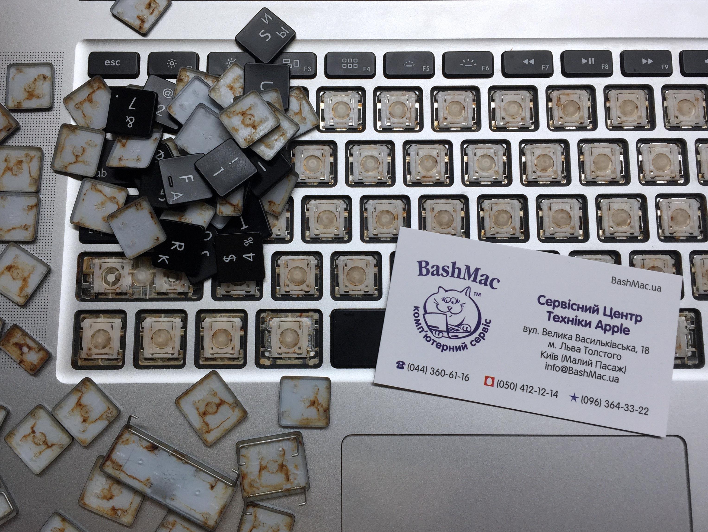 Ремонт та заміна клавіатури, трекпаду