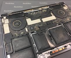 Чистка MacBook від пилу