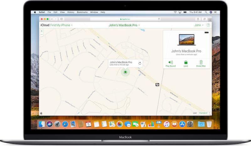Find My як знайти MacBook