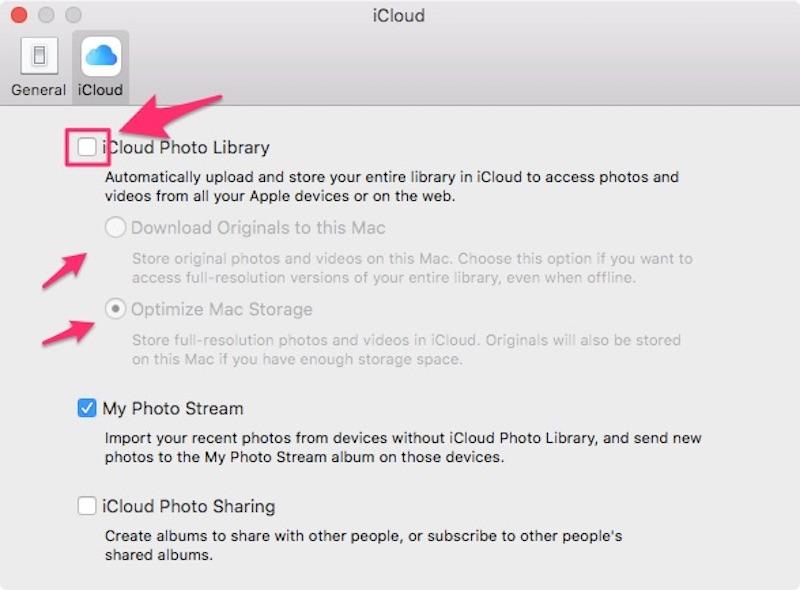 Налаштування iCloud Photo Library на Mac