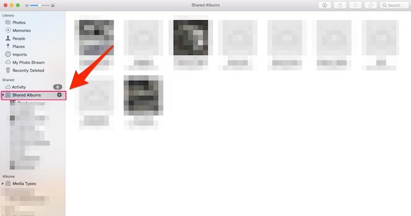 Інструкція по використанню iCloud Photo Sharing на Мак