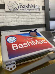BashMac 12 років (торт єкран MacBook)